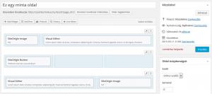 PageBuilder funkciók