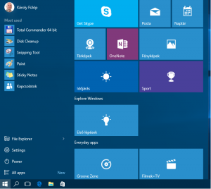 Windows 10 StartMenu